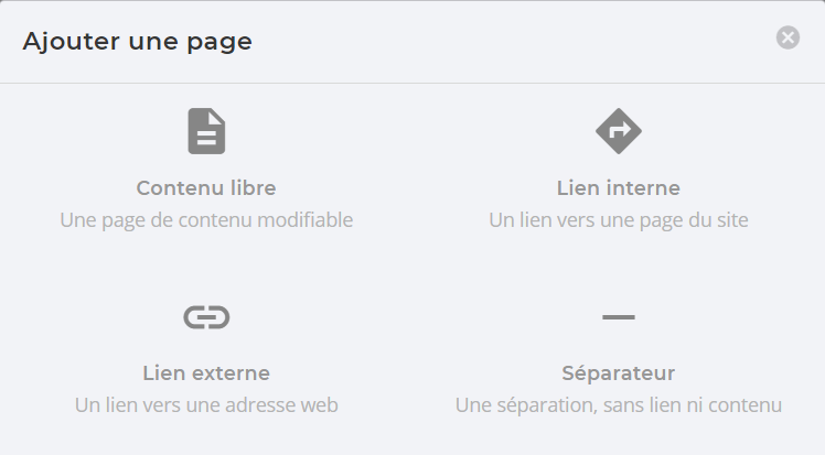 Capture : type de page